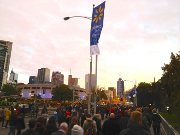Thousands of Melbournites off to breakfast after the Dawn Service