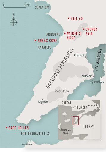 Map of Gallipoli