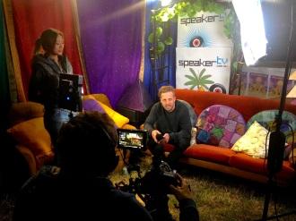 Shockone backstage with Speaker TV. Pyramid Rock