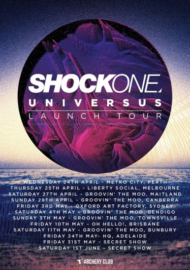 Shockone 2013 Tour Dates - Australia and USA