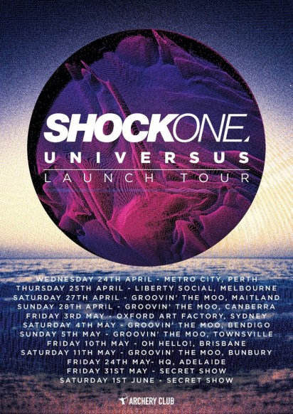 Shockone 2013 Tour Dates - Australia and USA