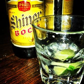 Continental Club, Austin - cheeky Bocks with tequila backs
