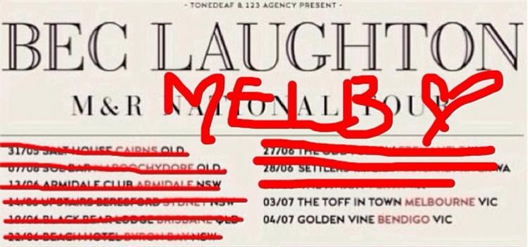 Bec Laughton Tour