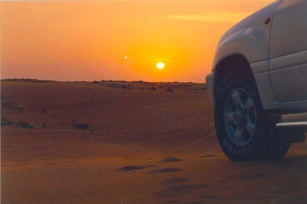 Sunset. 4WDing. Middle East. Photo credit: Dan Wilkinson (Hot & Delicious Group).