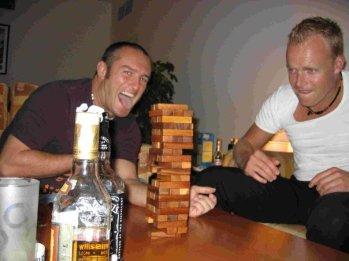 Drinking Jenga & tequila.. danger!