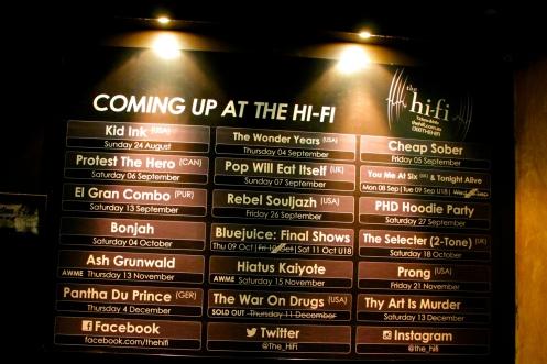 Bonjah headline Hi Fi Bar, Melbourne. Photo credit: Dan Wilkinson (Hot & Delicious Group).