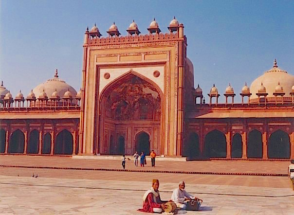 The ancient ochre city of Fatehpur Sikri. Uttar Pradesh, India.