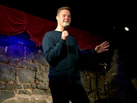 Tom Ballard struts his stuff pre Edinburgh Fringe Festival