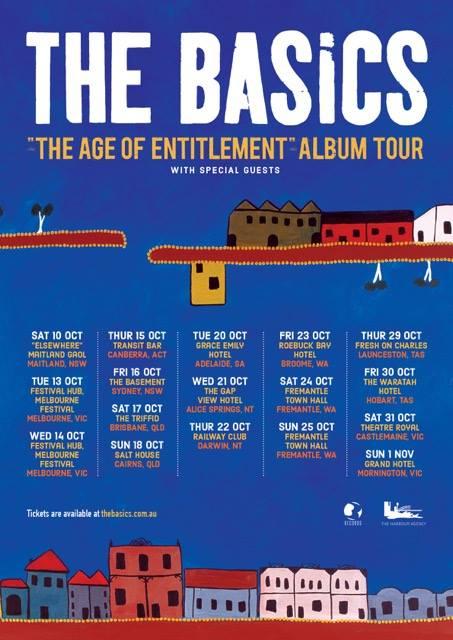 The Basics - The Age Of Entitlement' Tour Dates