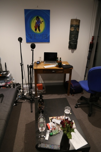 My happy place... podcasting from my castle in the sky.