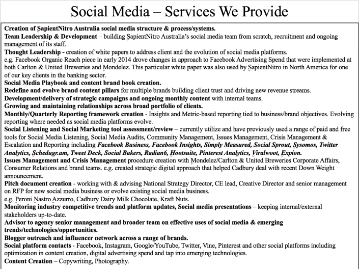Social Media Services We Provide
