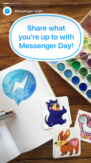 """New Facebook """"Messenger Day"""" - How it works."""