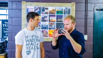 Jaron Mitchell (founder) - 4 Pines Brewing Co on the Hot & Delicious: Rocks The Planet! podcast in Sydney.