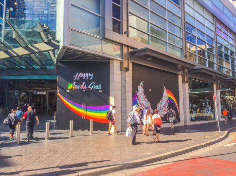 Westfield Bondi Junction Mardi Gras street art. A masterclass in experiential brand activation!