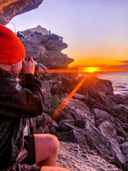 Ben Buckler sunrise. Image of @hotndelicious. Photo credit: @ginger_skybird Ben Buckler, Sydney, Australia. Prints available on request. info@hotndelicious.com