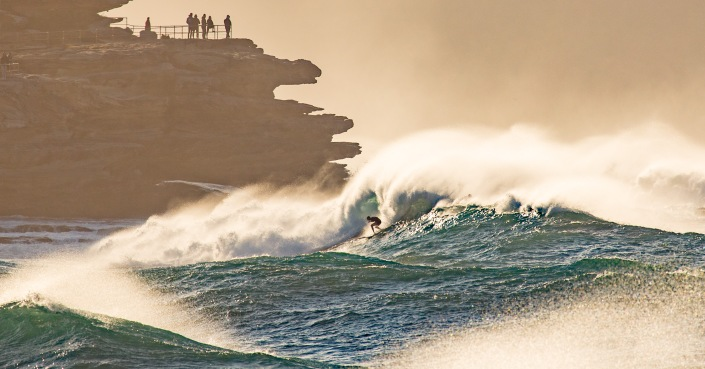 Big Wave Surfer braves massive swell at Ben Buckler by @hotndelicious