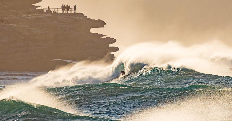 Big Wave Surfer braves massive swell at Ben Buckler by @hotndelicious