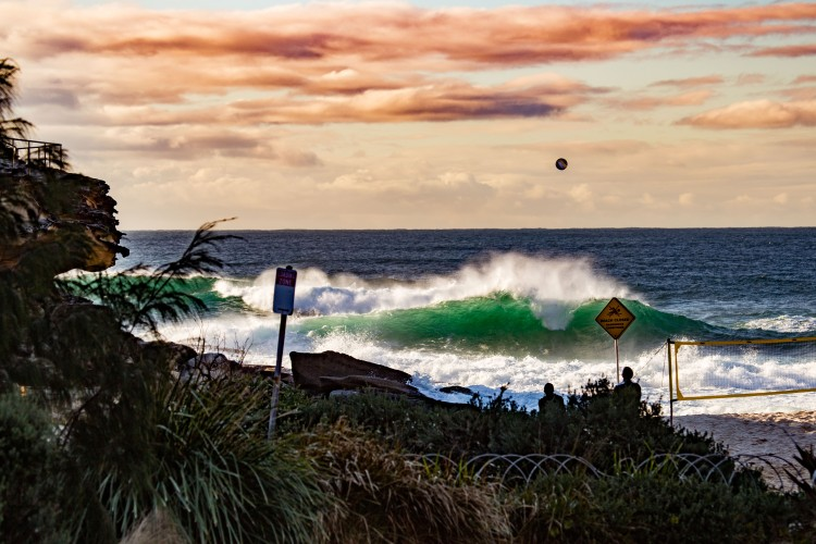 Sunrise Beach Volleyball - Tamarama Beach by @hotndelicious