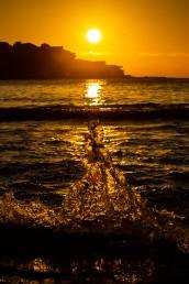 Splash sunrise Icebergs Bondi Beach by @hotndelicious