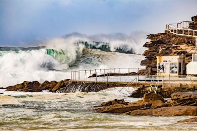 Bam! Bronte Rock Pool magic by @hotndelicious