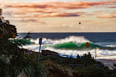 Dark & Stormy Beach Volleyball by @hotndelicious - Tamarama Beach